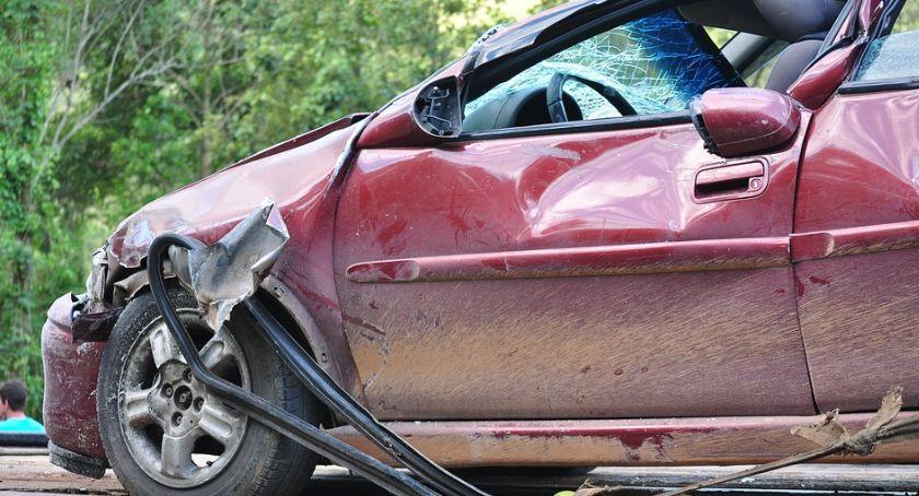 Wypadki drogowe, Wypadek Skarszewskiej osoby ranne - zdjęcie, fotografia