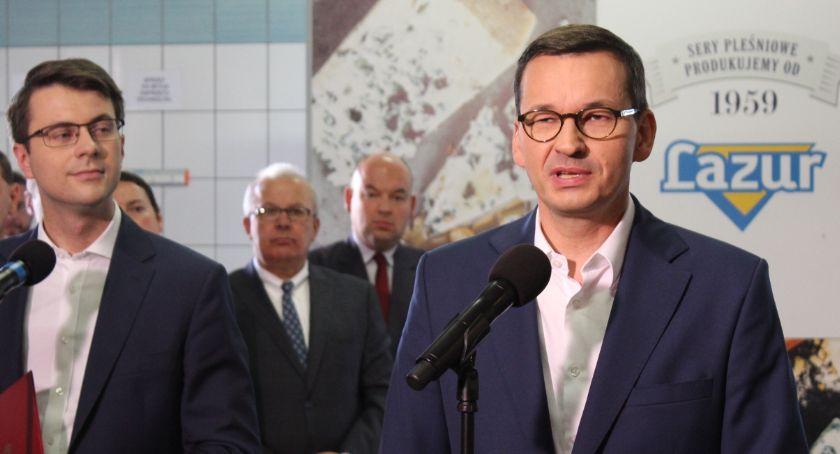 Polityka, premier Skalmierzycach obiecał kaliszanom obwodnicę - zdjęcie, fotografia