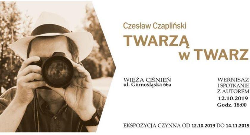 Wernisaże, Fotografował najsłynniejszych Wystawa Czesława Czaplińskiego Wieży Ciśnień - zdjęcie, fotografia