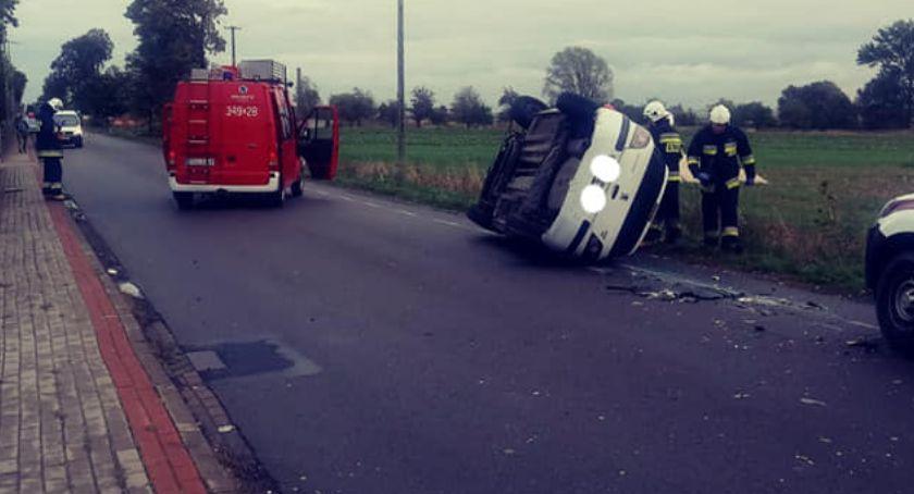 Wypadki drogowe, kolizje gminie Blizanów - zdjęcie, fotografia