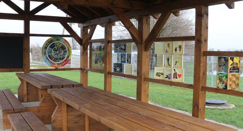 wiadomości z regionu, Otwarta Strefa Aktywności wiata edukacyjna stadionie - zdjęcie, fotografia