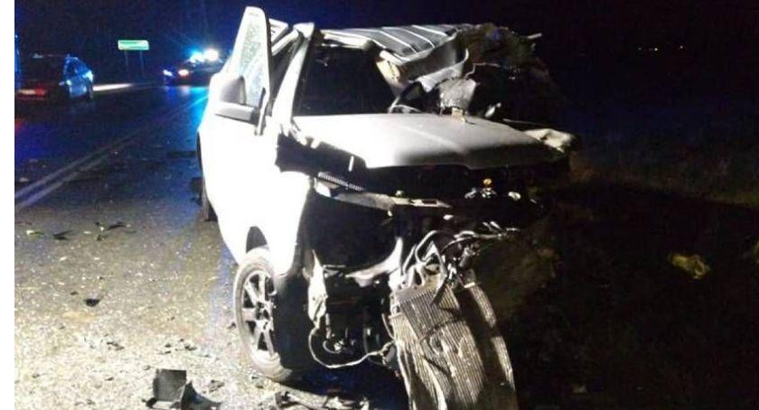 Wypadki drogowe, Tragiczny wypadek Kościelnej zderzenie trzech Szosie Tureckiej - zdjęcie, fotografia