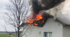 W Zbiersku  palił się dom