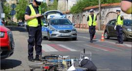 Potrącenie rowerzysty na Bankowej
