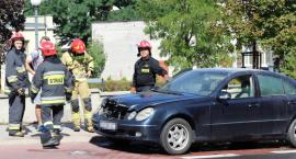 Pożar auta na ulicy Legionów