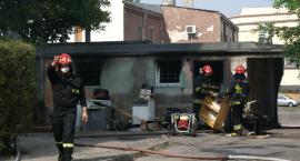 Pożar w serwisie AGD