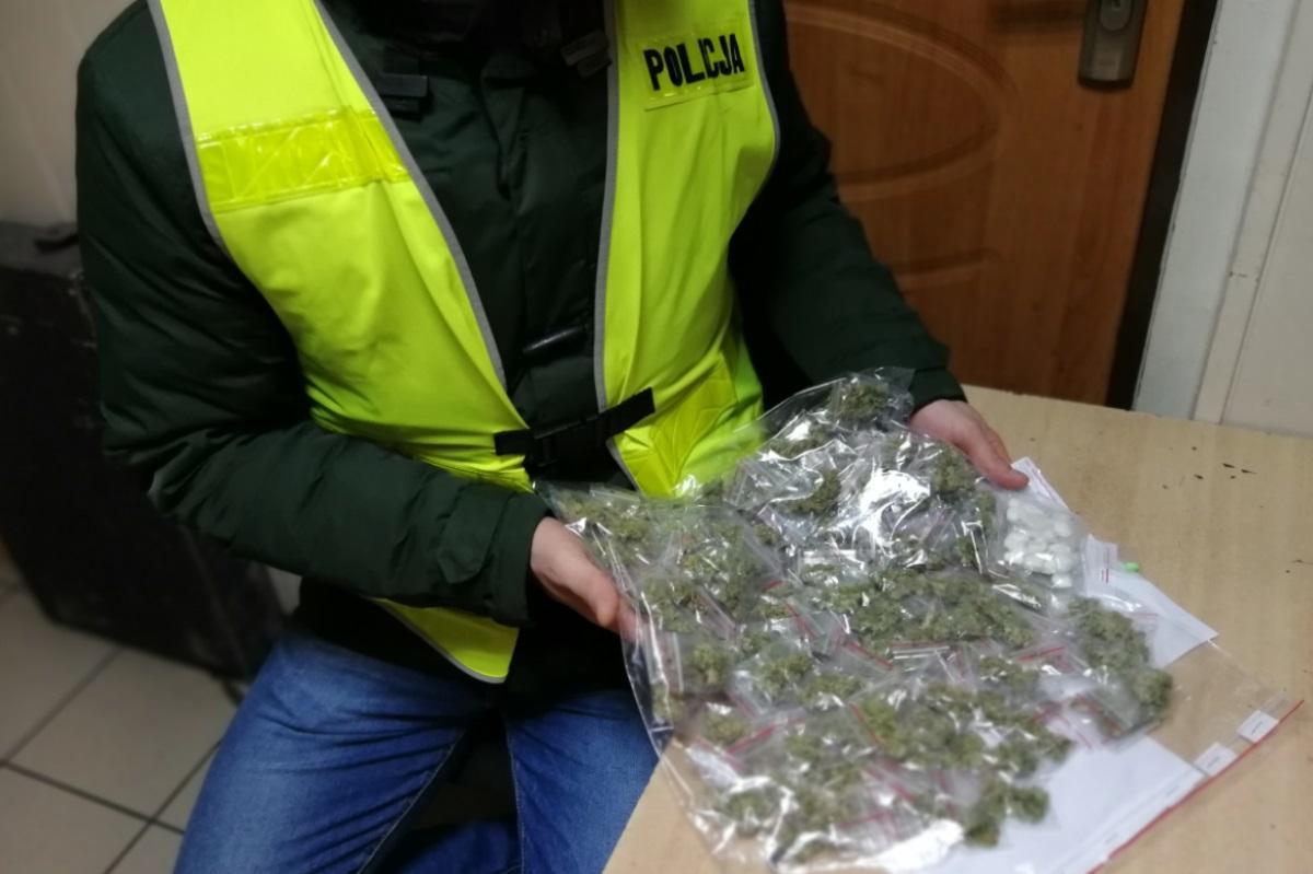 Narkotyki, latek latek Świecia zatrzymani posiadanie narkotyków - zdjęcie, fotografia