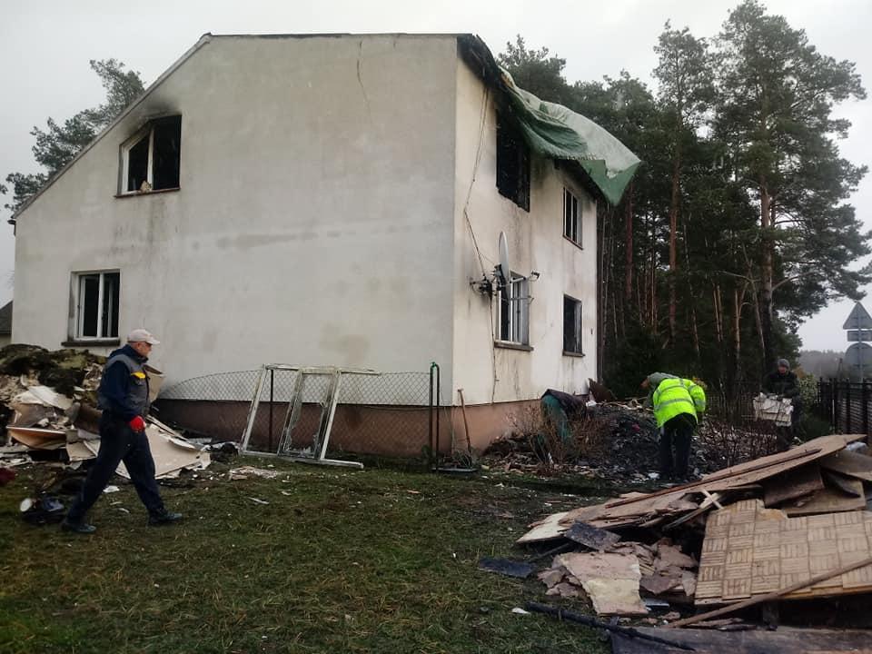 Pożar, Stracili dobytek zbiórka pogorzelców Gródka - zdjęcie, fotografia