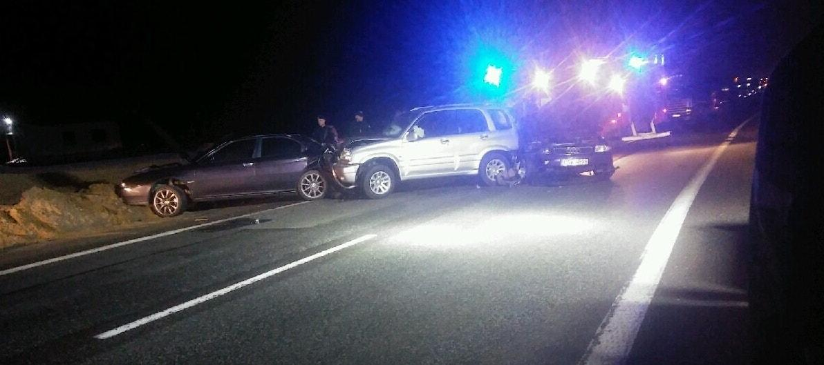 Wypadek drogowy, Groza drogach Morsku Świeciu Pięć osób trafiło szpitala - zdjęcie, fotografia