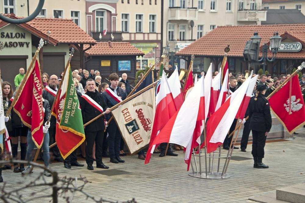 Uroczystości, święta i obchody, niepodległości Świeciu Uroczystości Dużym Rynku [ZDJĘCIA] - zdjęcie, fotografia