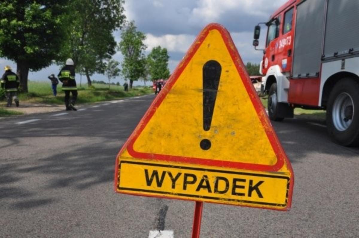 Wypadek drogowy, Śmiertelny wypadek Grucznie - zdjęcie, fotografia