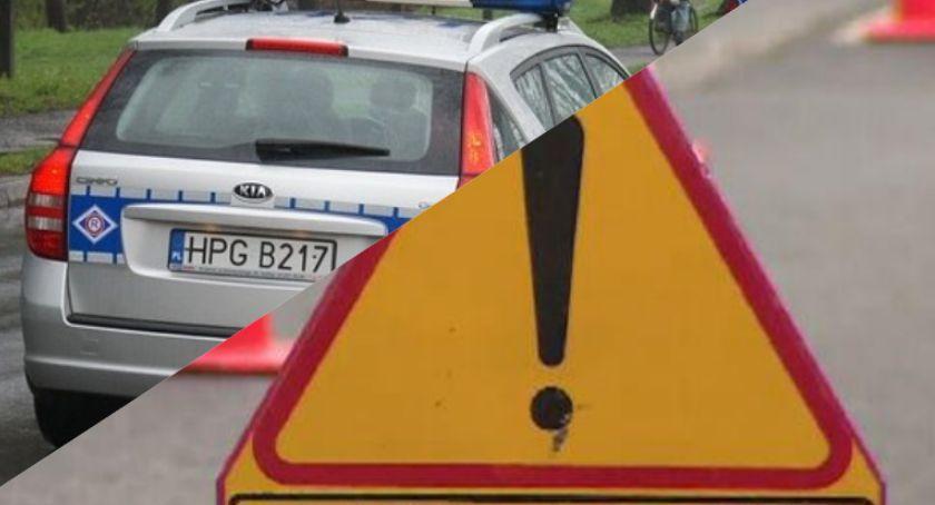 Wypadek drogowy, Wypadek Luszkowie krajowej piątce zderzyły pojazdy - zdjęcie, fotografia