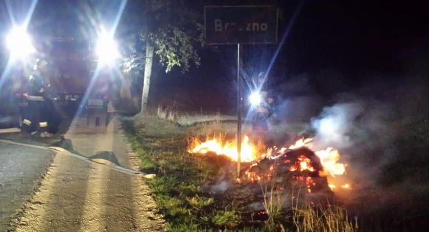Pożar, Pożar śmieci rowie było podpalenie Strażacy zadziałali ekspresowo [ZDJĘCIA] - zdjęcie, fotografia