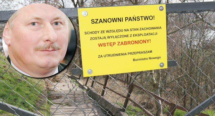 Newsy, Schody planty Nowem zamknięte Burmistrz tłumaczy dlaczego zrobił remontu przekonuje - zdjęcie, fotografia