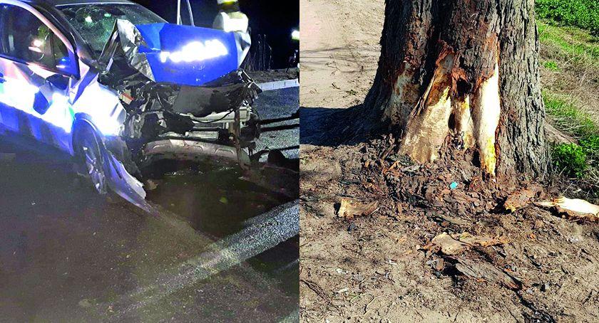 Wypadek drogowy, Śmierć policjanta służbie Świeciu Publikujemy informacje zamieszczamy zdjęcia wypadku - zdjęcie, fotografia