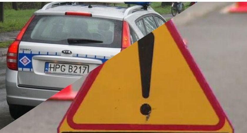 Wypadek drogowy, Wypadek Górnym Grucznie stało - zdjęcie, fotografia