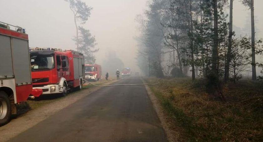 Pożar, Dubielno Ogromny pożar [PILNE] - zdjęcie, fotografia