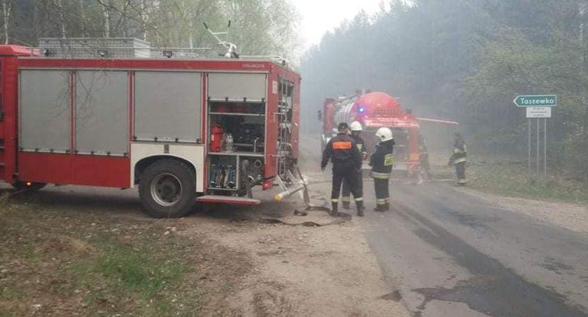 Pożar, Pożar Dubielnie rozwija minuty minutę Cztery zagrożone Sytuacja kryzysowa - zdjęcie, fotografia