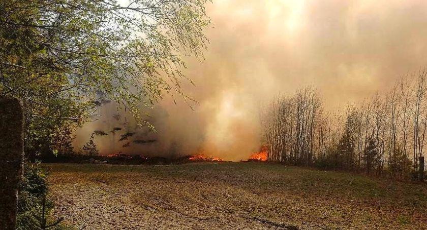 Pożar, Pożar gminie Jeżewo informacje miejscu jednostek straży [ZDJĘCIA] - zdjęcie, fotografia
