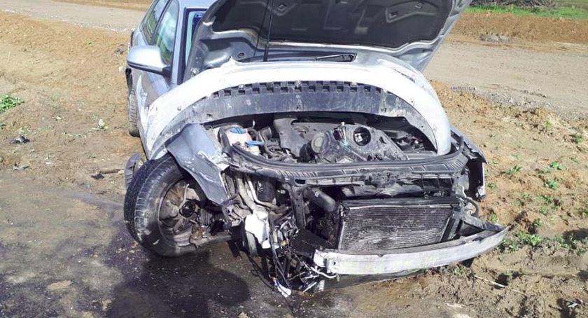 Wypadek drogowy, Wypadek Wiągu Kolizja trzech krajowej piątce - zdjęcie, fotografia