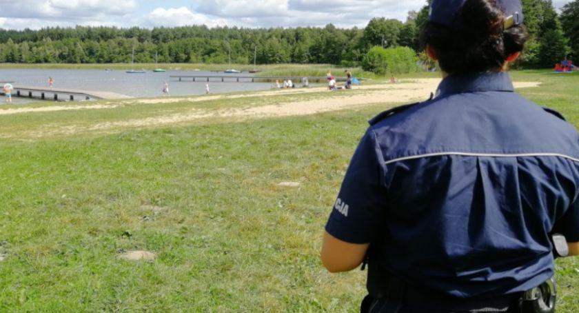 Akcja policji, Policjanci pojawili Decznie innych kąpieliskach Sprawdzamy robili - zdjęcie, fotografia