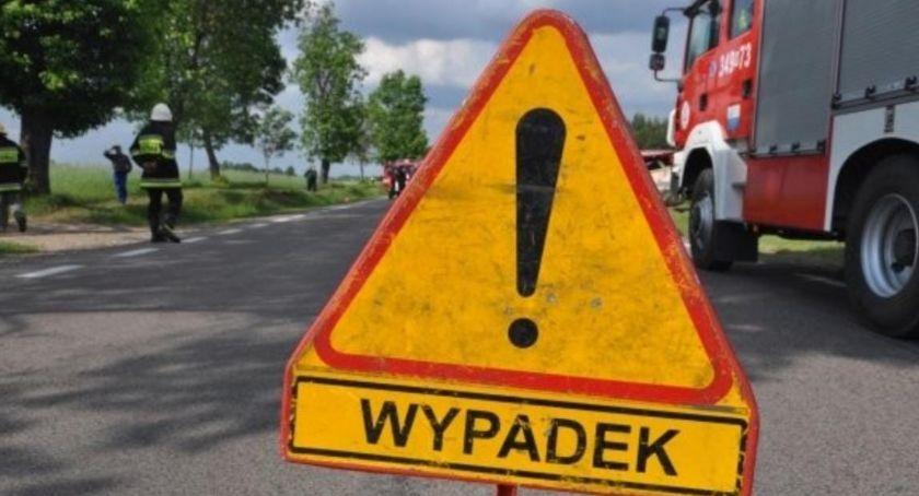 Wypadek drogowy, Nowych Marzach zderzyły ciężarówka osoby szpitalu - zdjęcie, fotografia