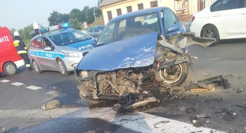 Wypadek drogowy, Wypadek Niewieścinie odbywał wahadłowo [ZDJĘCIA] - zdjęcie, fotografia