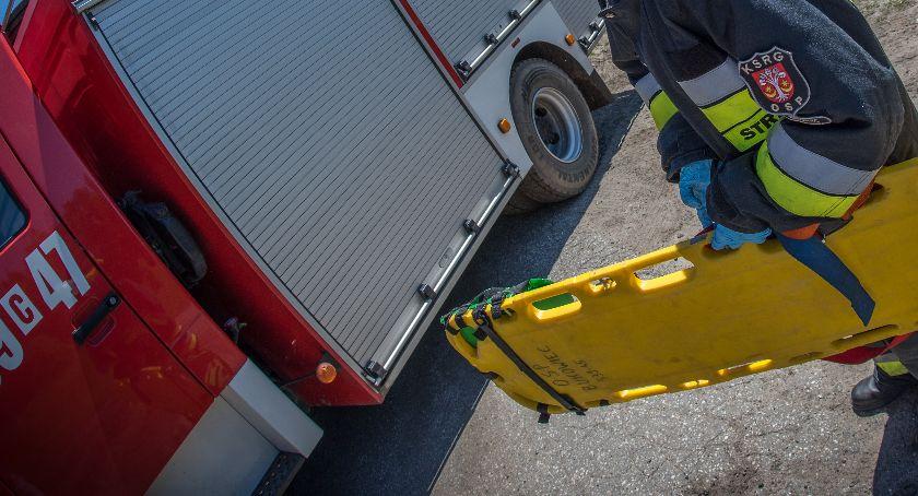 Wypadek drogowy, Śmiertelny finał wypadku Laskowicach Mężczyzna zmarł szpitalu - zdjęcie, fotografia