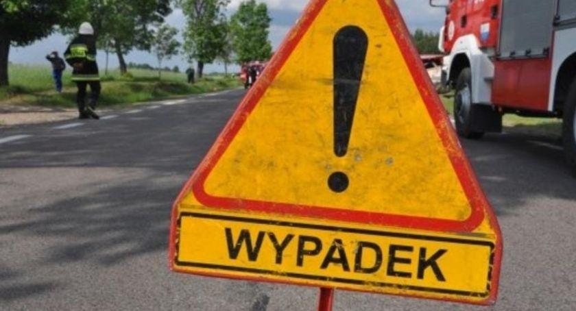 Wypadek drogowy, PILNE! Droga zablokowana! miejscu jednostki straży śmigłowiec - zdjęcie, fotografia