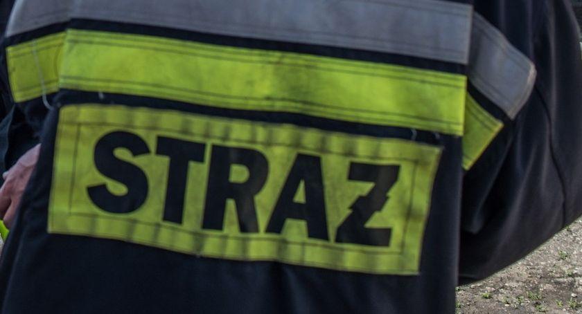 Akcja straży, Fletnowo samochód rowie zastępy akcji - zdjęcie, fotografia