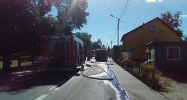 Pilne: Ulica Szkolna w Lnianie nieprzejezdna. Zapalił się autobus