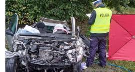 Śmiertelny wypadek w Bzowie. Droga zamknięta