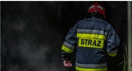 Pożar wędzarni w Laskowicach. W akcji brały udział trzy zastępy straży pożarnej