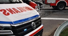 Poważny wypadek pomiędzy Tleniem a Tucholą. Osobówka zderzyła się z ciężarówką