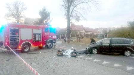 Wypadki, Zginął motocyklista Osierocił dwoje dzieci - zdjęcie, fotografia