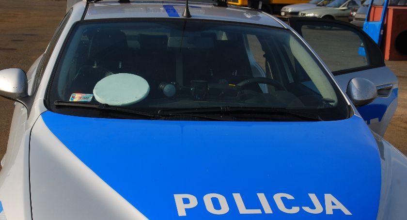 Wypadki, Motocyklista zderzył radiowozem - zdjęcie, fotografia