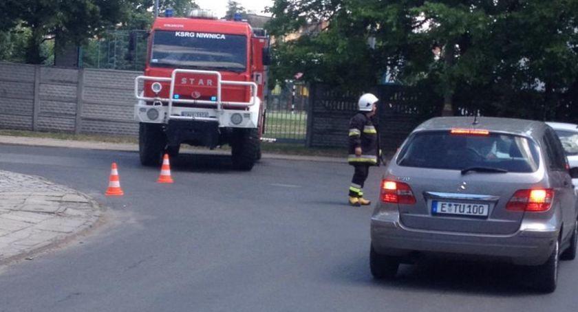 Straż pożarna , Wyciek ewakuowano mieszkańców - zdjęcie, fotografia