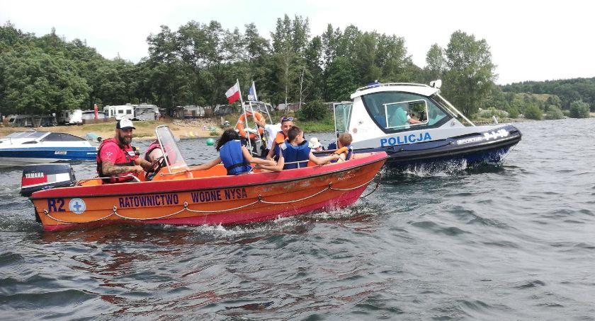Policja , Jezioro Nyskie Blisko kolejnej tragedii - zdjęcie, fotografia