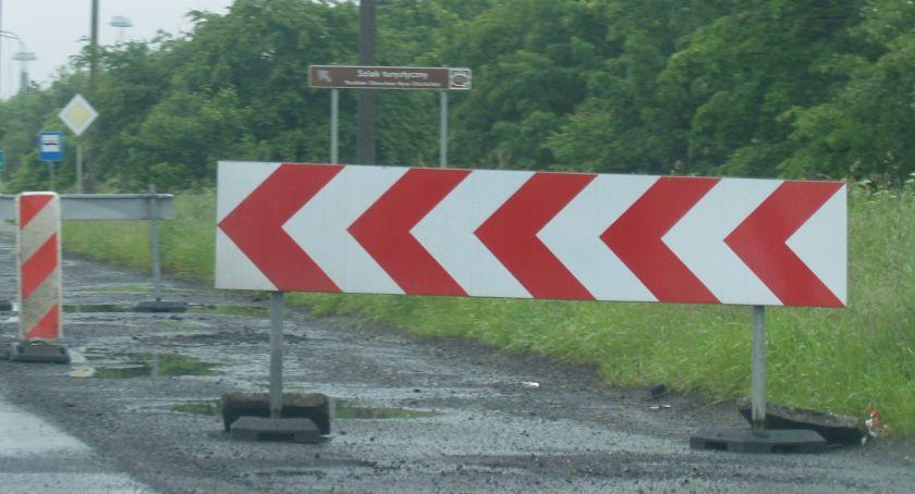 Wypadki, Droga śmierci Wierzbięcicach ograniczenie przed przebudową - zdjęcie, fotografia