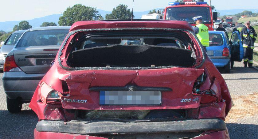 Wypadki, Sprawca karambolu miał ponad promile - zdjęcie, fotografia