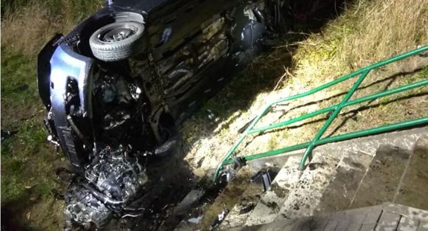 Wypadki, Zderzenie czterech samochodów - zdjęcie, fotografia