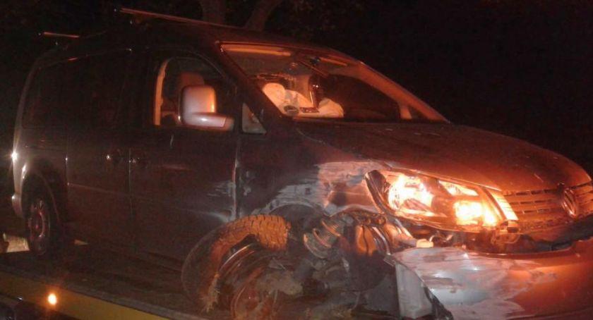 Wypadki, Frydrychów Niebezpieczne wyprzedzanie - zdjęcie, fotografia