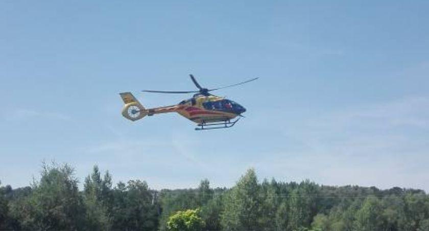 Wypadki, Biskupia rannego przyleciał helikopter - zdjęcie, fotografia