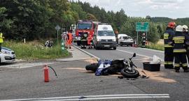 Wypadek motocyklisty pod Paczkowem