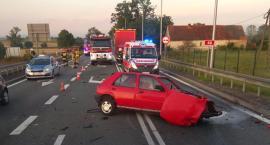 Wypadek na krzyżówce w Pakosławicach