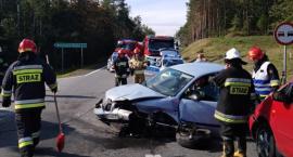 Zderzenie trzech samochodów
