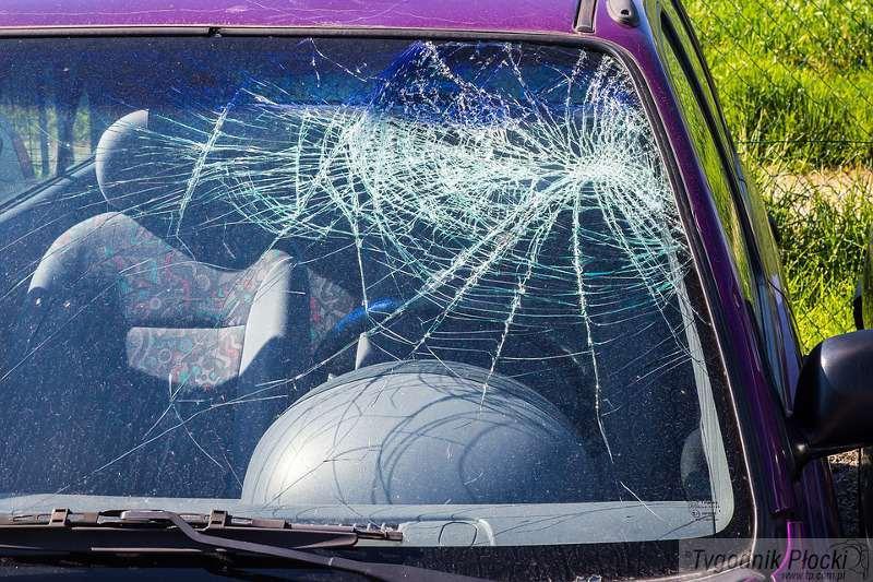Wiadomości, Uszkodzony samochód Konopnickiej - zdjęcie, fotografia