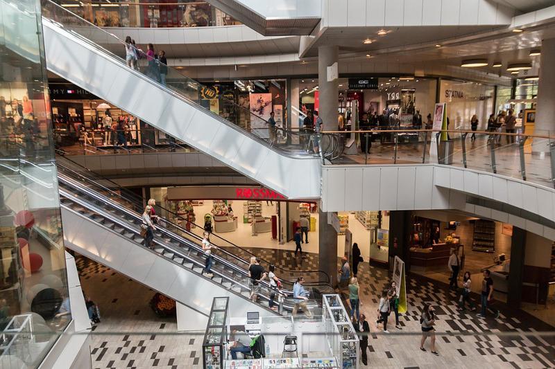 Wiadomości, Kradzież sklepu galerii handlowej - zdjęcie, fotografia