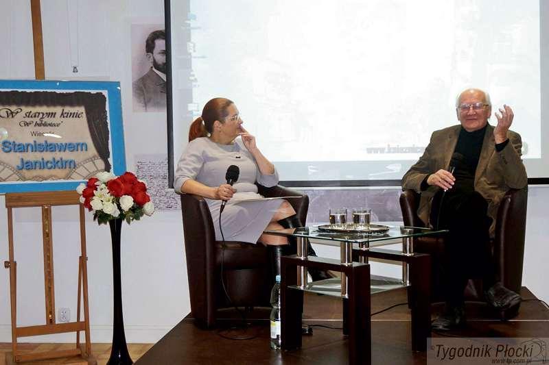 Spotkania i wywiady, Stanisław Janicki Książnicy Płockiej - zdjęcie, fotografia