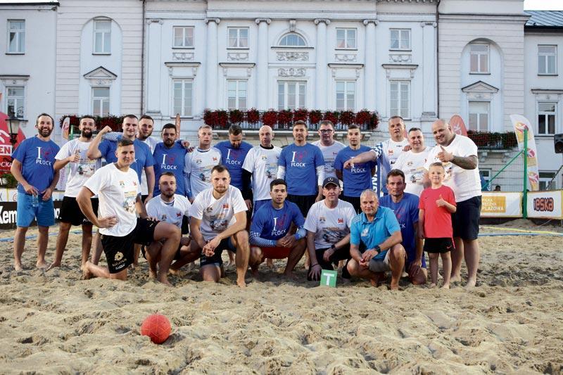 Piłka ręczna, podium zagraniczne zespoły - zdjęcie, fotografia